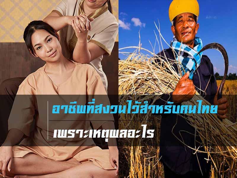 อาชัพคุ้นตาของไทย
